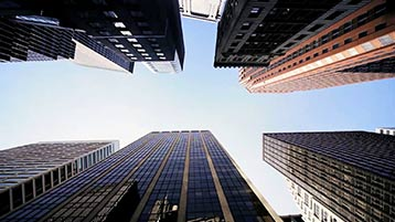 Skyscrapers - looking up from below