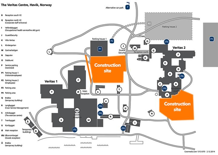 Veritas centre construction area map
